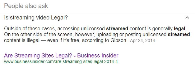 is streaming legal