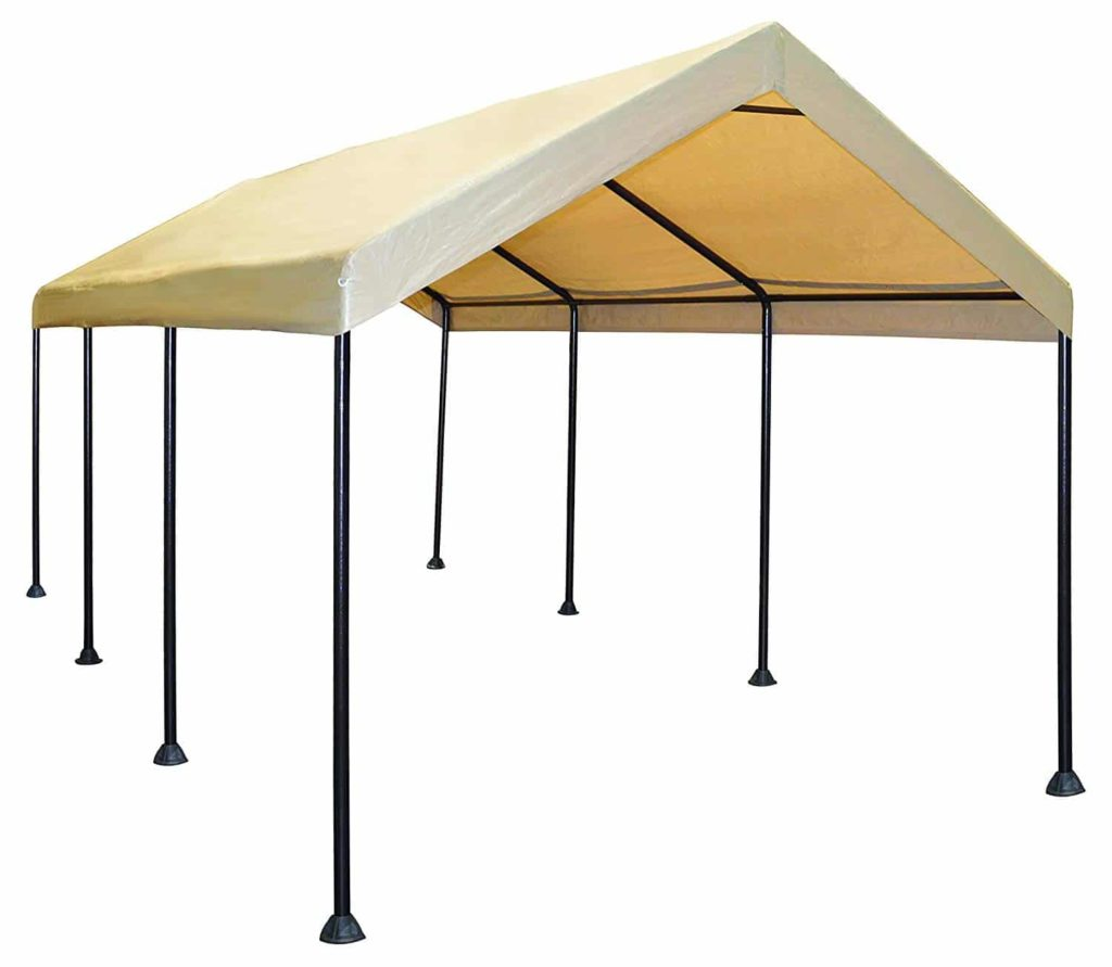 Caravan Canopy Mega Domain 10 X 20-Feet Carport - Tan